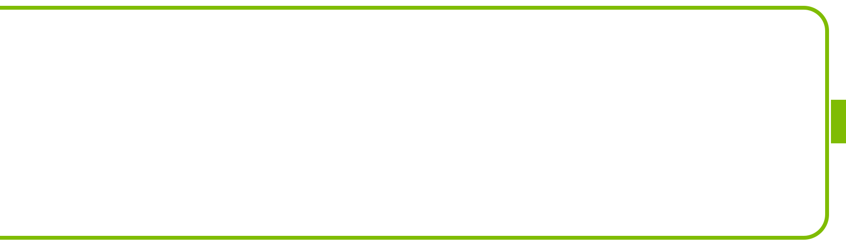 Large green battery outline