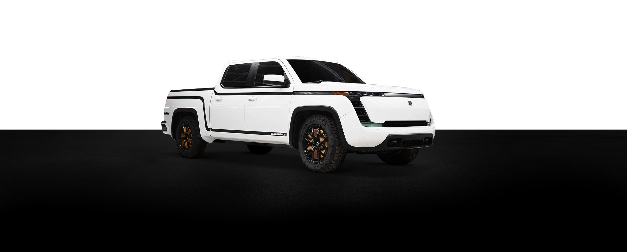 Lordstown Endurance logo and pickup truck below
