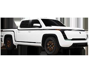 White Lordstown Endurance pickup truck